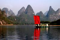 RED Sail Fine Art , Li River China