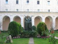 Cloisters in the Abbey of Montecassino