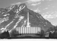 Provo temple Large-16x22-BW