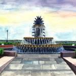 """PineappleFountain"" by Artlife"