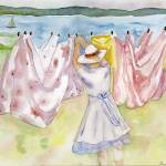"""island  laundry"" by windingwaywatercolors"