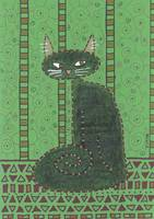Black Cat in Green Room