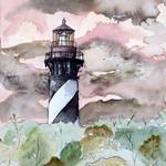 """st augustine florida lighthouse painting print"" by derekmccrea"
