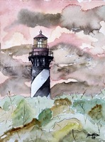 st augustine florida lighthouse painting print