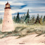 """georgetown, sc watercolor lighthouse painting"" by derekmccrea"