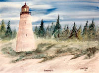 georgetown, sc watercolor lighthouse painting