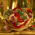 """Christmas Santa Bowl of Amazing Circles"" by tricia"