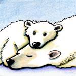 """""""Polar Bear Hug"""" by KiniArt"""