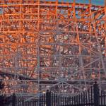 """Sunset on Old Roller Coaster"" by shelshots"