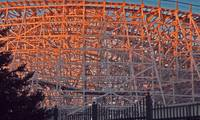 Sunset on Old Roller Coaster