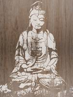 Old wooden Budha