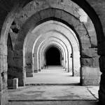 """Archways To Infinity (B&W High Key Multiply Vers.)"" by jonsheer"