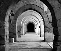 Archways To Infinity (B&W High Key Multiply Vers.)