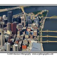 Pittsburgh Aerial: Summer 2007 Art Prints & Posters by shutterrudder