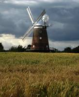 Windmill in English countryside
