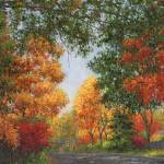 """Autumn in the Suburbs"" by susansartgallery"