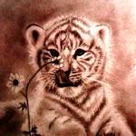 """""""Tiger Innocence"""" by ginadittmer"""