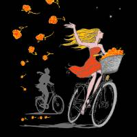 """Bike Girl by Ed Fotheringham"" by Esteban"