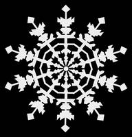 Happy Christmas - Ice Crystals - Snowflake