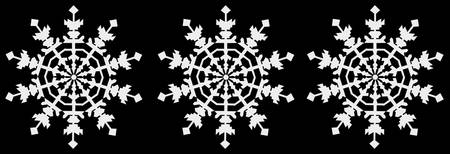 Happy Christmas - Ice Crystal - Snowflake