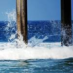 """Wave Meets Pier"" by MarilynPhotos"