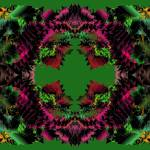 """Poinsettias and Holly 2-04"" by infinitefascination"