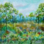 """Kept Promise Trees In Meadow Painting"" by Itaya"