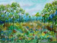 Kept Promise Trees In Meadow Painting