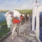 """Santorini VII (White Mule)"" by edwardobermueller"