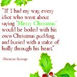 """Xmas Scrooge Greeting Card"" by typothecary"