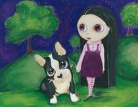 Big Eyed Girl and Pity Puppy