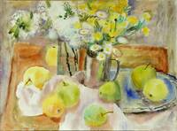Spring still life with apples