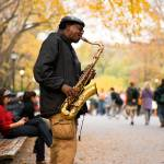 """Central Park Saxman"" by mentat"
