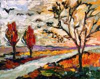 Heading South 2 Autumn Landscape Oil