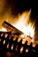 Blazing Open Log Fire