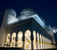 Sheikh Zayed Mosque at night