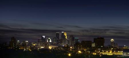 Minneapolis Mn Skyline Night