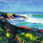 """La Jolla Cove looking west by RD Riccoboni"" by BeaconArtWorksCorporation"