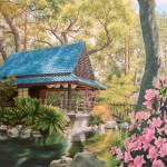 """Geisha in a Japanese Garden"" by StudioSinaloa"