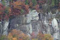 Streching rock face