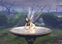 Good Faerie in the Birdbath