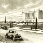 """Mesa Arizona Temple in sepia / LDS / Mormon"" by StapleyArts"