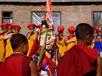 Tibetan Monks during Losar