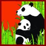 """Panda Bears - Mother & Cub"" by DezineZone"