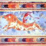 """Minoan ""Bull Leaping"" Toreador Fresco"" by MinoanAtlantis"