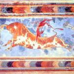 """Minoan ""Bull Leaping"" Toreador Fresco"" by MinoanAtlantis"