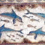 """Minoan Dolphins Fresco"" by MinoanAtlantis"