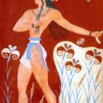 """Minoan Prince of Lilies ""Priest-King"" Fresco"" by MinoanAtlantis"