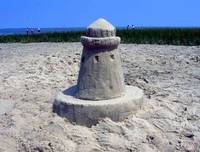 Sand Lighthouse in Cape Cod