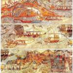 """Minoan Miniature Frieze Admirals Flotilla Fresco"" by MinoanAtlantis"